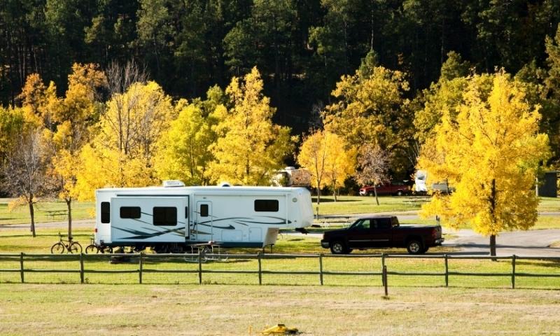 RV Park in the Black Hills of South Dakota