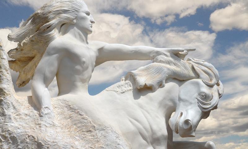 Model of Crazy Horse Memorial