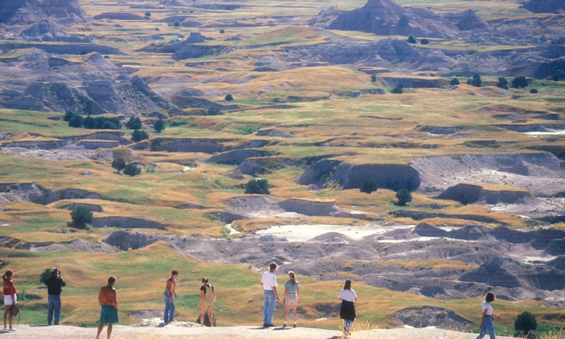 Badlands National Park South Dakota Hiking Trail Overlook