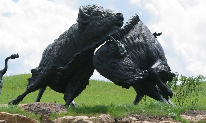 Sculpture at Tatanka Story of the Bison