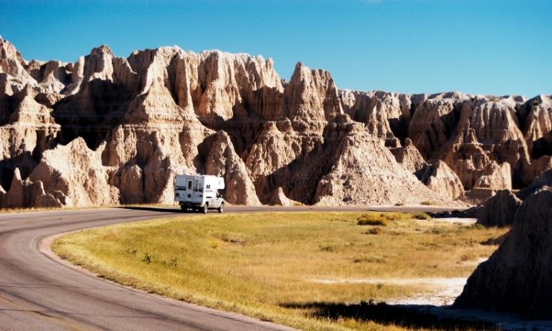 Badlands National Park South Dakota Rv Scenic Drive Camping