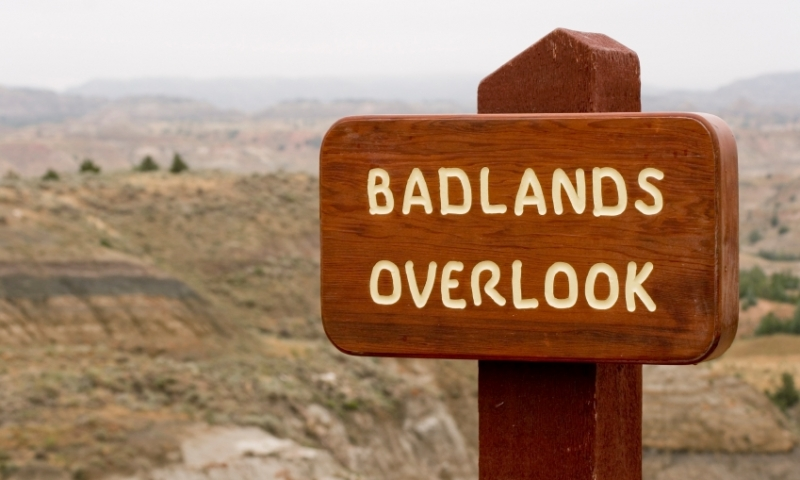 Badlands National Park Sign
