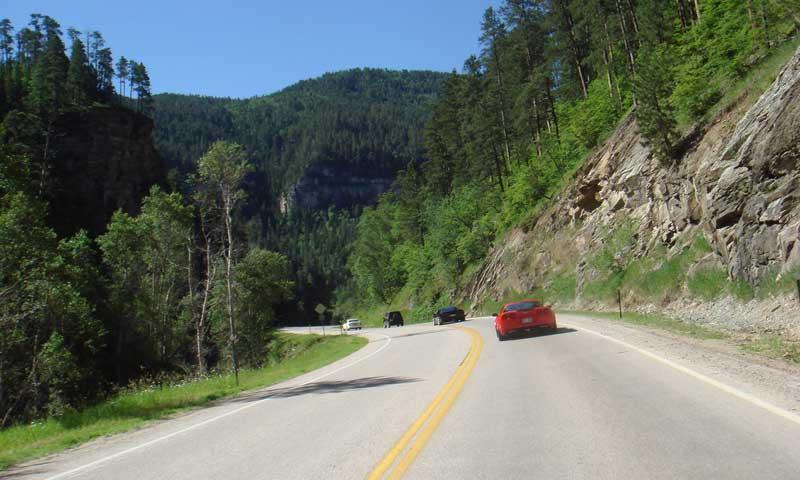 Corvettes on a Black Hills Scenic Drive
