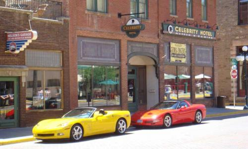 Corvettes in front of the Celebrity Hotel