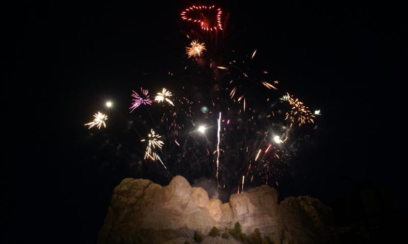 Mt Rushmore Fireworks