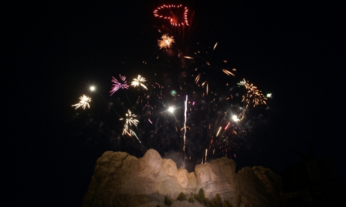 Mt Rushmore Fireworks