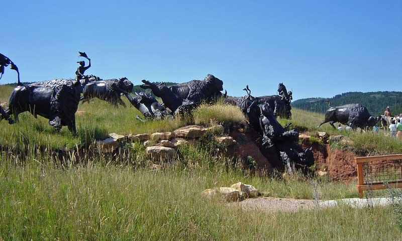 Sculptures at Tatanka - Story of the Bison in the Black Hills
