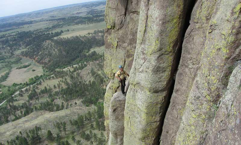 Kid Climbing in the Black Hills