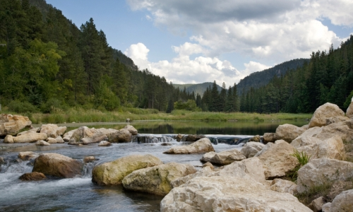 Black Hills South Dakota Spearfish Creek Spearfish Canyon Scenic Byway