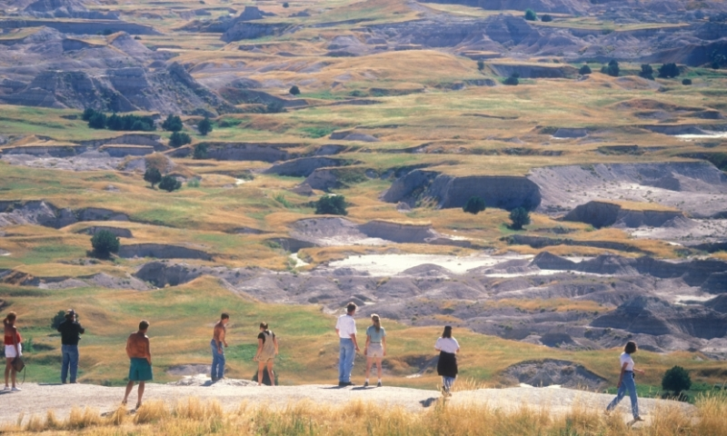 Badlands National Park South Dakota Hiking Trail Overlook