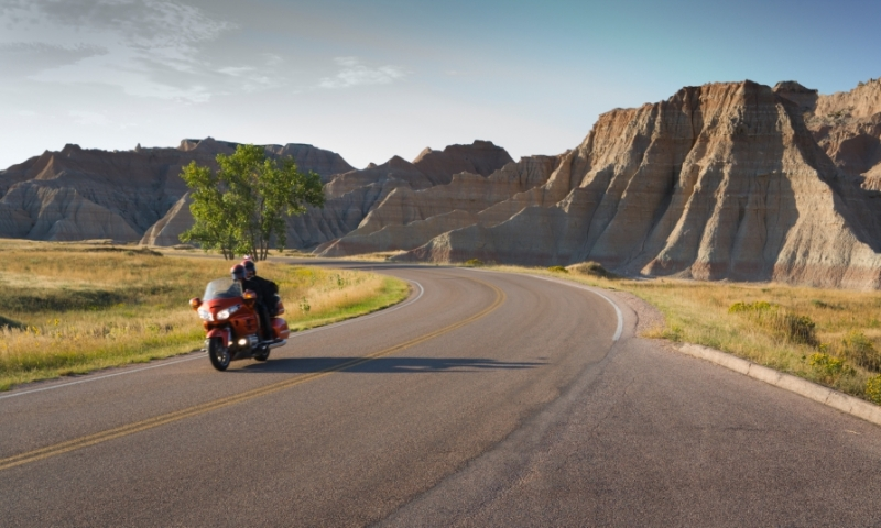 Badlands National Park South Dakota Scenic Drive Motorcycle