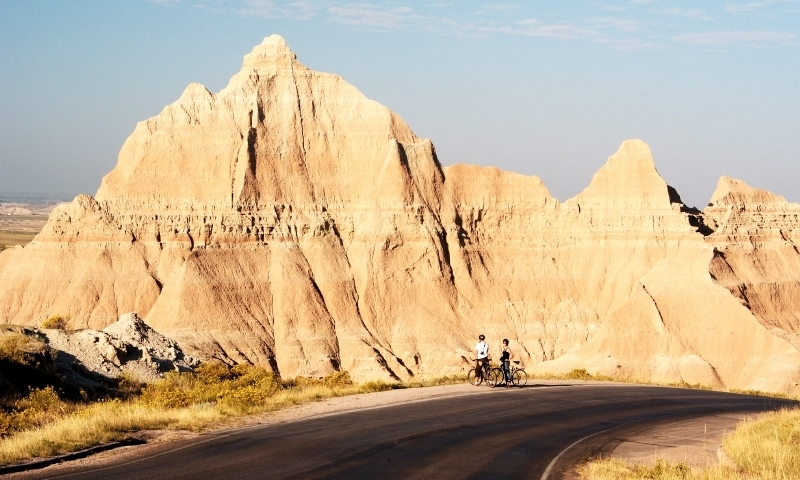 Road Biking in Badlands National Park